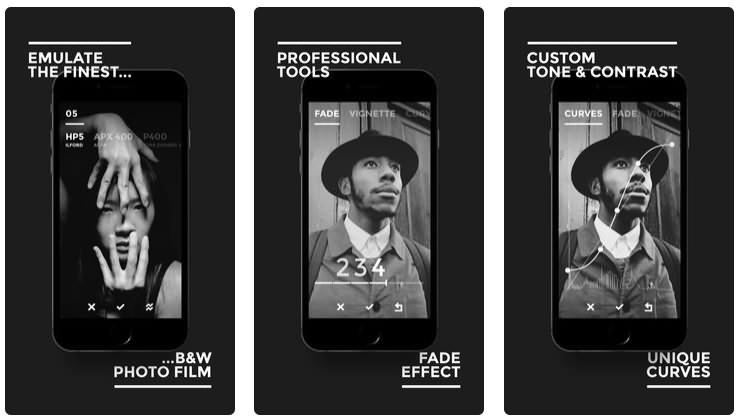BLACK - B&W Film Emulator app