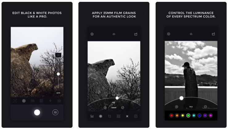Camera Noir app