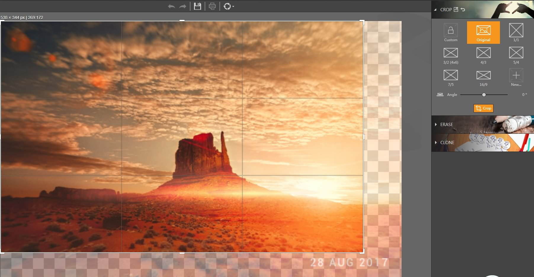 Fotophire Remove Date Stamp