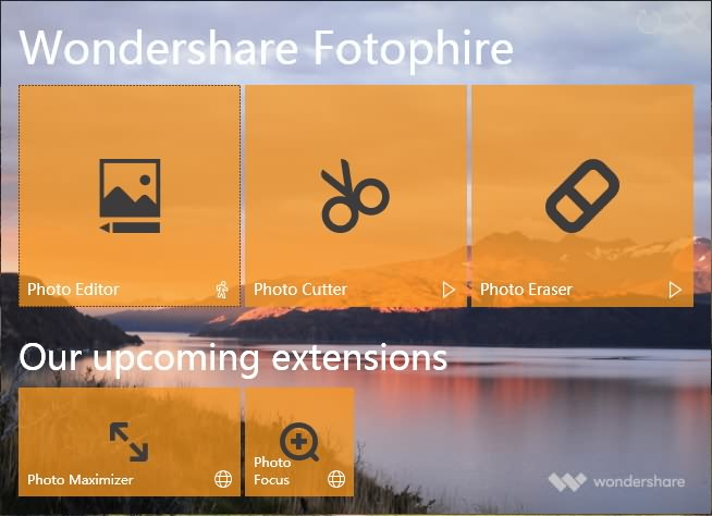 Fotophire  Welcome Interface