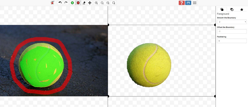 Add Background to Photos - Use the Red Brush to Remove Background