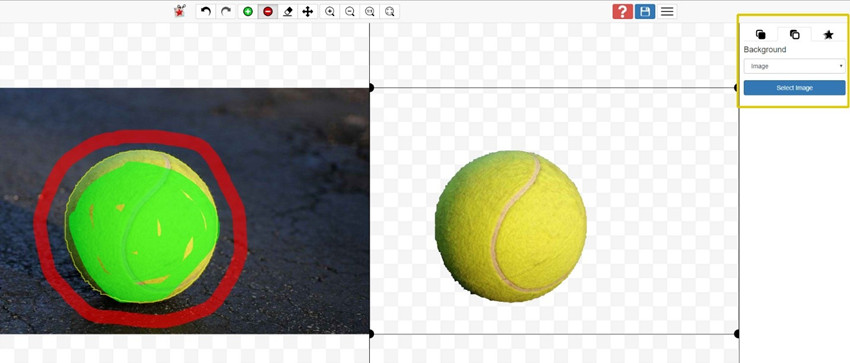 Add Background to Photos - Select Image and Add Background