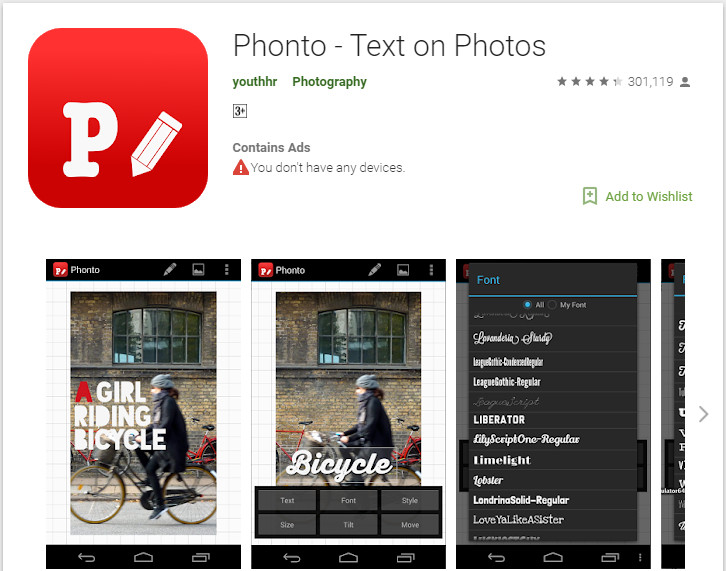 Add Text to Image - Install Phonto on Device