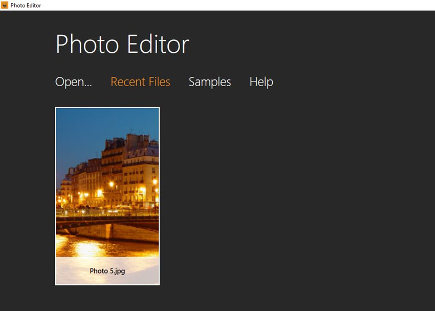 Add Watermark to Photos - Add Image to Program Window