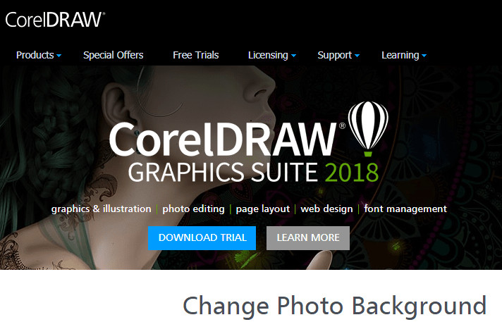 Change Background of Image - Corel Draw