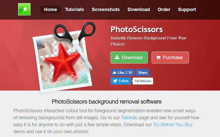 Changer Photo Background in Photoshop - Teorex PhotoScirssors