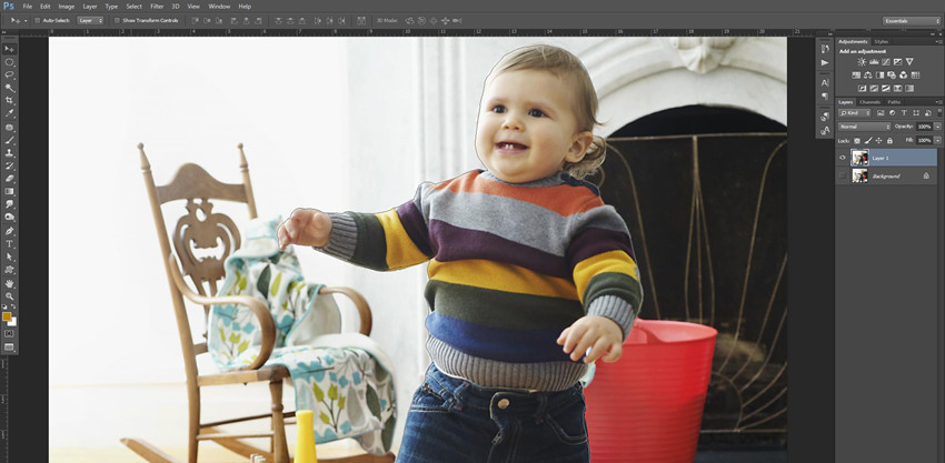 How to Create Blurred Photo Background - Make Selection