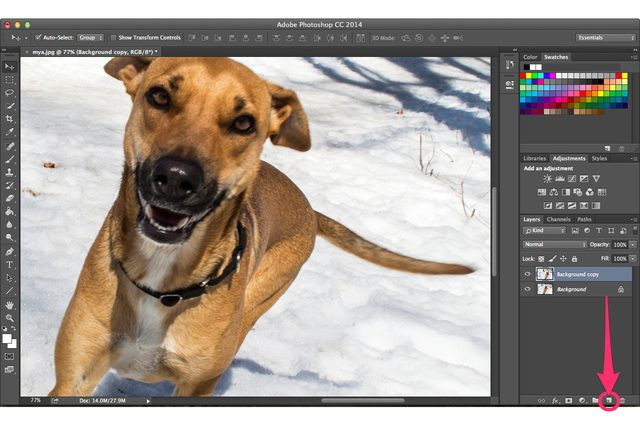 All Ways to Deblur Photos - Create New Layer