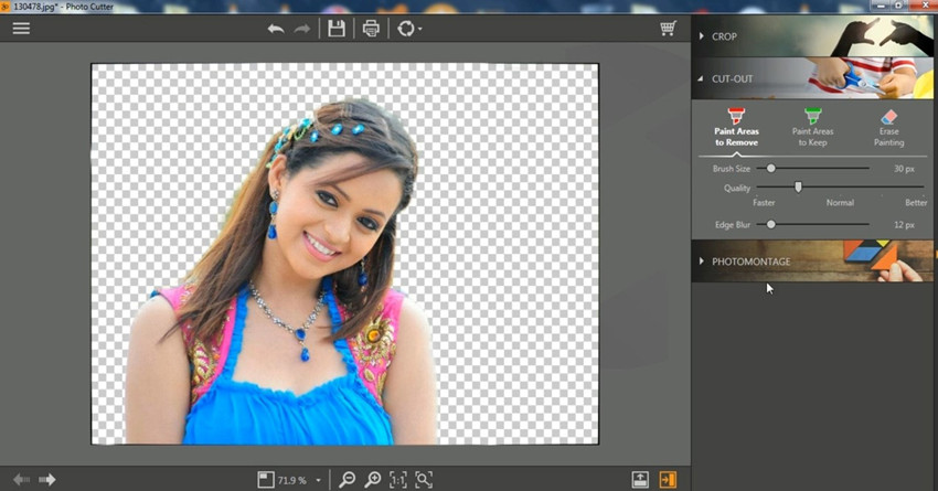Delete Background in Photoshop - Result