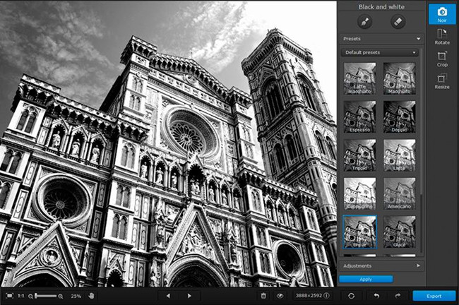 Edit Black and White Photos - Movavi Photo Noir