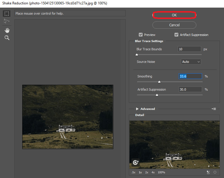 Enhance a Blurry Photo - Shake Reduction