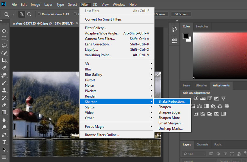 How to Fix Grainy or Fuzzy Photos - Shake Reduction