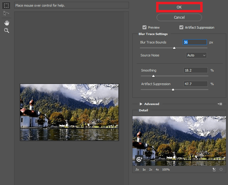 How to Fix Grainy or Fuzzy Photos - Fix Image with Shake Reduction