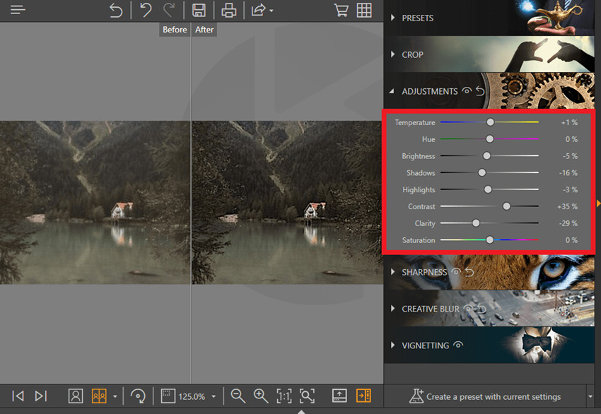 How to Fix Out-of-Focus Photos - Adjustment