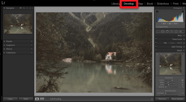 How to Fix Out-of-Focus Photos - Entere Develop Module