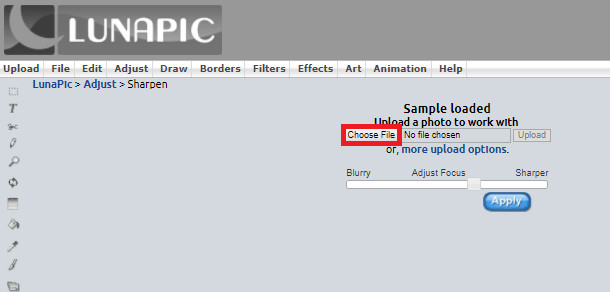How to Fix Out-of-Focus Photos - Visit Lunapic and Upload Image