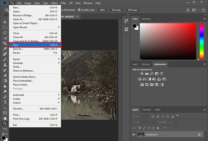 How to Fix Out-of-Focus Photos - Save Changes