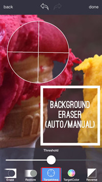 Make Photo Background Transparent - Make Use of the Target Area Tool