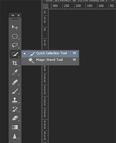 Make Photo Background Transparent - Select Quick Selection Tool