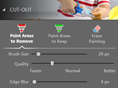 Remove Background from Image - Selecet Paint Areas to Remove