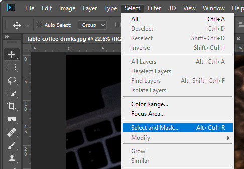 Remove Background from Image - Select and Mask