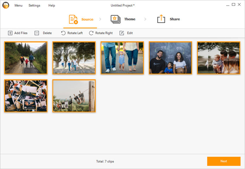 Make a Panorama Photo Slideshow - Start Slideshow Maker