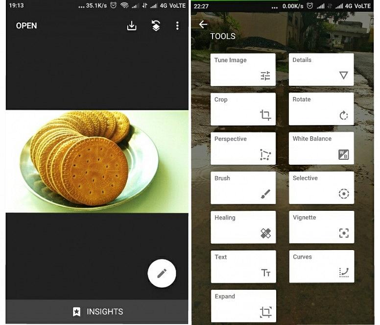 Filter Camera App - Snapseed