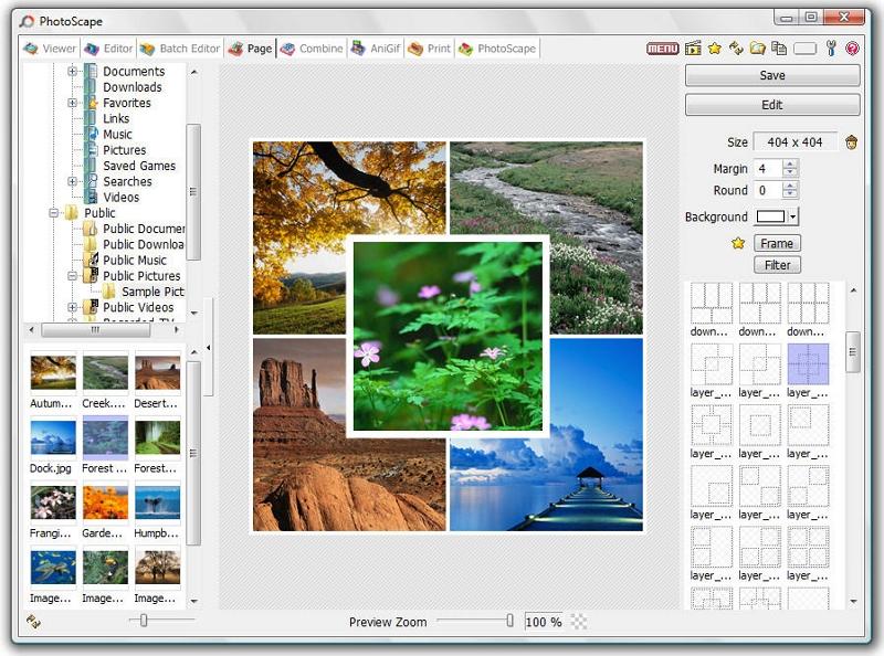 Picasa Photo Editor for Windows 7 - Photoscape Portable