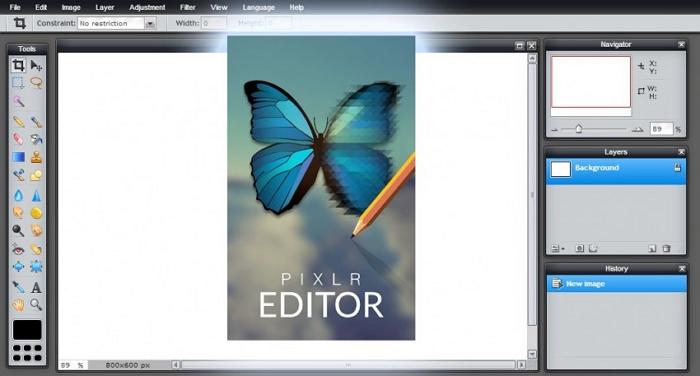 Camera Editing - Pixlr Editor