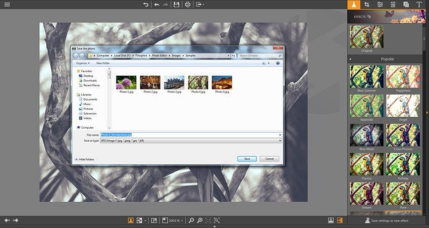 Windows 10 Photo Editor - Save the Finished Photos