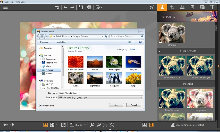 Photo Editor App for PC - Save the Finished Photos