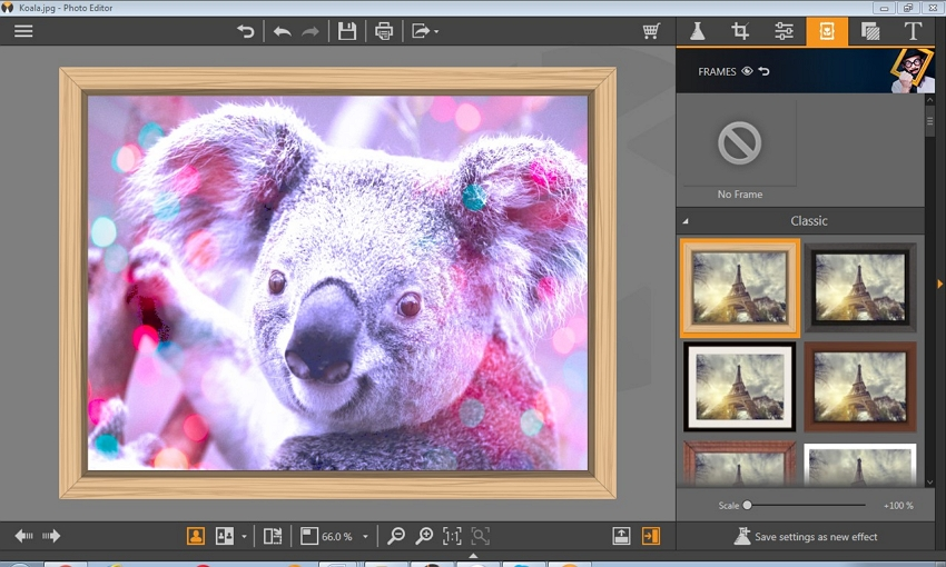 Photo Editor App for PC - Add Frame for the Finisehd Photo