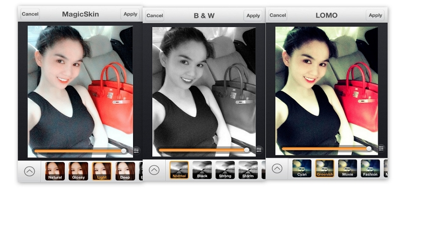 Camera 360 Photo Editor - Use the Effects Option