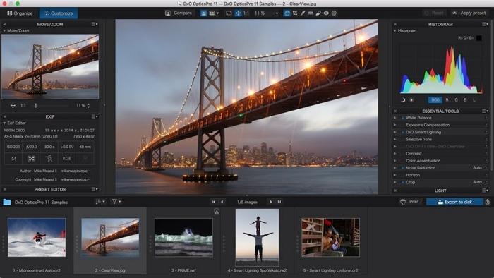 Macbook Photo Editor- DxO Optics Pro