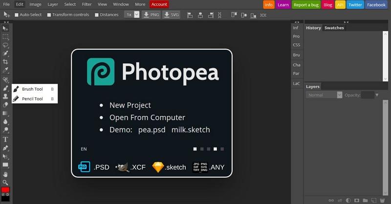 Mac Photo Editor -  Photopea