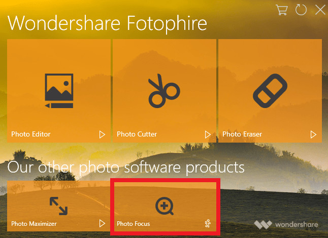 BLur Frame Photo Editor - Install and Start Fotophire Focus