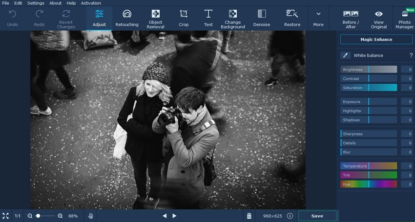 BLur Frame Photo Editor - Movavi Photo Editor