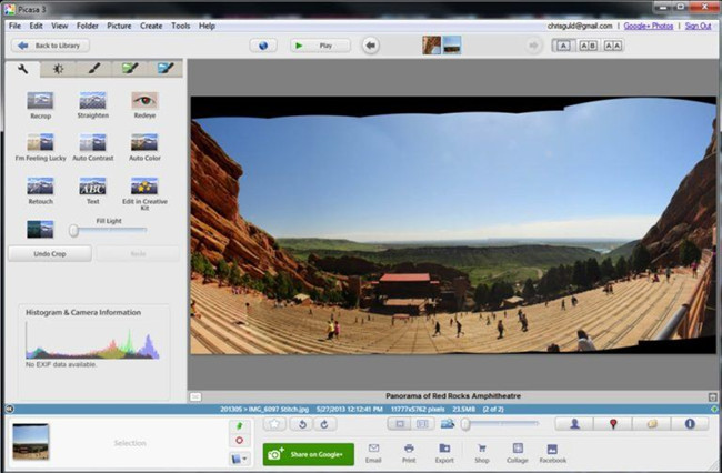 Camera Photo Editors for Photographers - Picasa