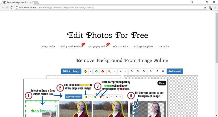 Use Online Photo Editor to Change Background of Photo