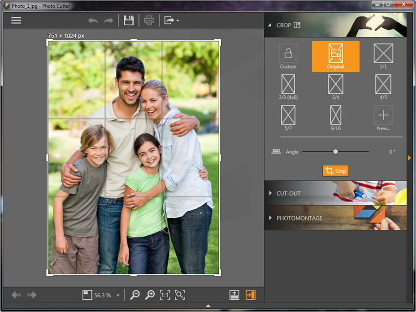 Photo Effect Editor Programs and Apps - Crop or Change Tilt