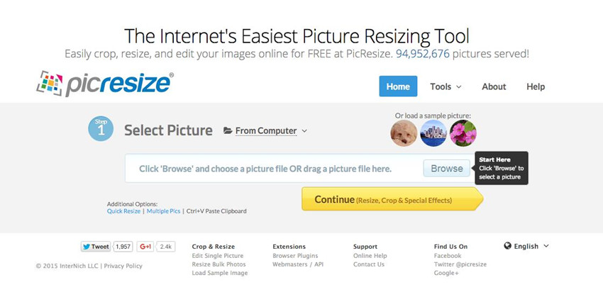 Helpful Websites to Crop Images Online - Picresize