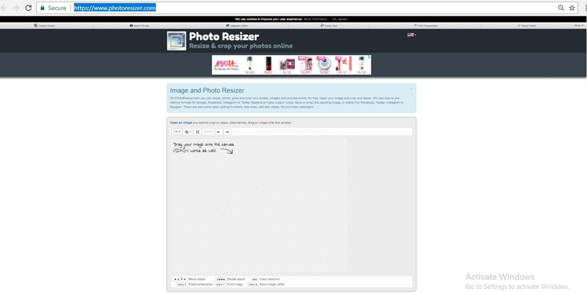 Helpful Websites to Crop Images Online - Photo Resizer