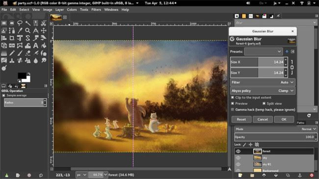Easy Background Changer - GIMP