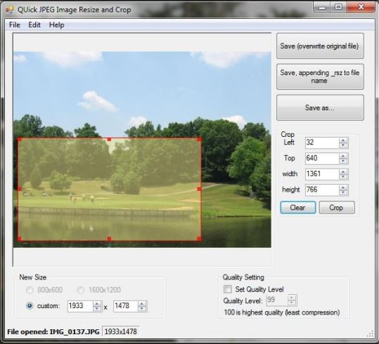 Face Crop Editor - Quick JPEG Resize and Crop
