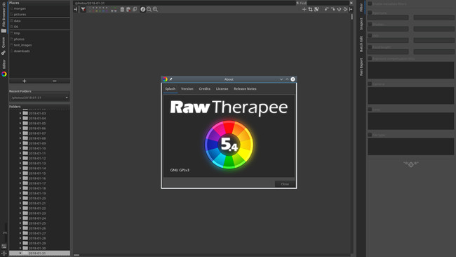 Free Photo Editor Software and Apps - Raw Therapee