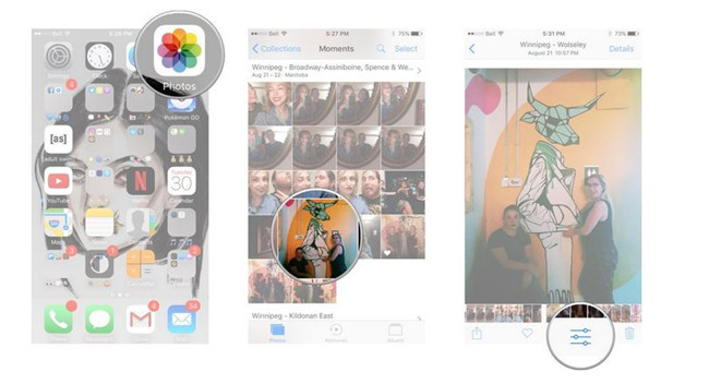 How to Match Twitter Image Size - Open Image from Gallery