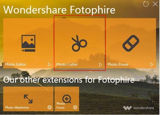 Best Online Photo Background Changer - Start Program and Choose Photo Cutter