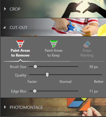 Best Online Photo Background Changer - Choose Pain Areas to Remove