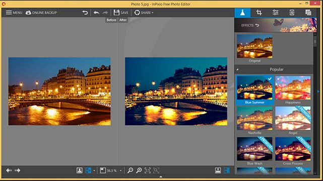 Photo Background Changer Software for Windows 7 - InPixio Photo Editor