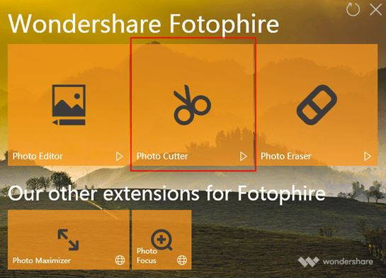 Photo Cutter and Background Changer - Start Fotophire Editing Toolkit and Choose Photo Cutter